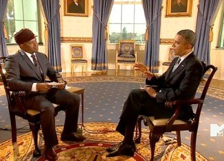 Barack Obama made a new attempt on Friday to shore up the youth vote with a live interview on MTV