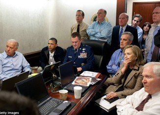 Barack Obama, pictured in the Situation Room on May 1, 2011