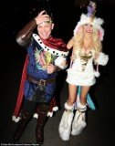 Courtney Stodden opted for a unicorn Halloween costume to celebrate the holiday