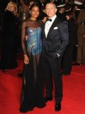 Daniel Craig and Naomie Harris at the royal world premiere of Skyfall