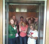 Elevator travelers always avoid eye-contact