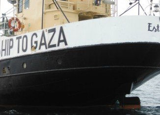 Estelle, which is reportedly carrying a cargo including cement and medical supplies, is the latest vessel to try and break the Gaza blockade