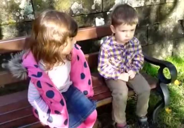 Four-year-old Delilah O'Donoghue's earnest lecture on behavior to her two-year-old brother Gabriel could be about to make their family a fortune