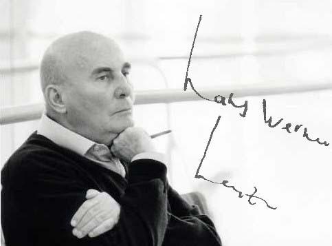 Hans Werner Henze autograph