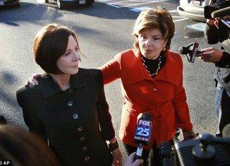 Gloria Allred with her client Maureen Sullivan Stemberg