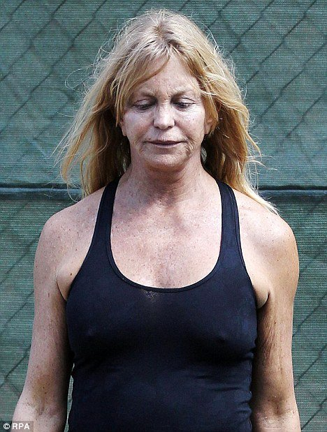 Goldie Hawn steps out ...