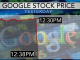 Google shares fell again on Friday, just 24 hours after $24 billion was lost from the company's value