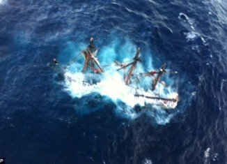 HMS Bounty crew was forced to abandon ship off North Carolina coast as it became caught in raging seas near the eye of Hurricane Sandy