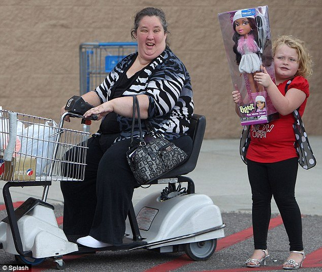 Honey Boo Boo stepped out in a pair of strappy silver heels as she joined her family for a family shopping trip to Walmart