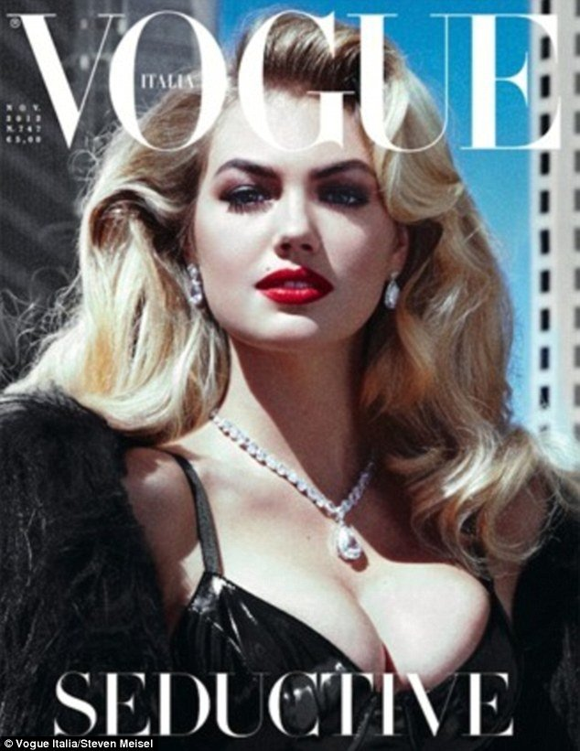 Kate Upton has landed her very first Vogue cover, going from Sports Illustrated to the pinnacle of high fashion in less than a year