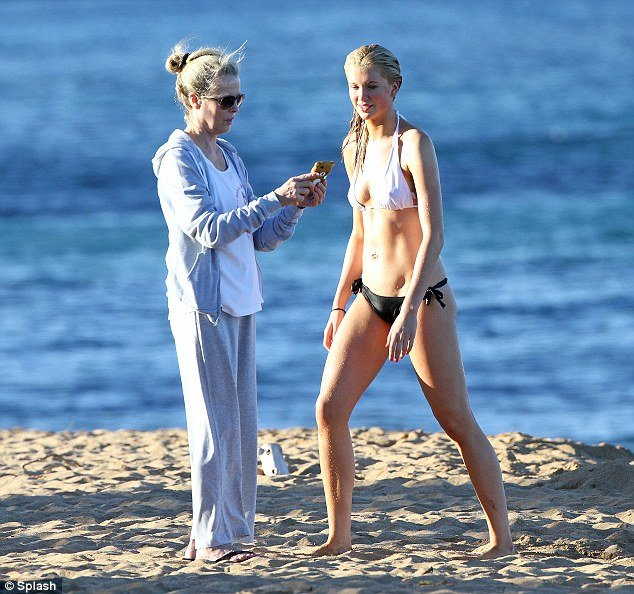 Kim Basinger and Ireland Baldwin enjoyed a spot of mother-daughter bonding while on a sun-soaked holiday in Maui