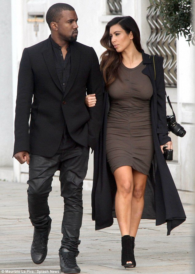 Kim Kardashian and Kanye West in Venice on her birthday