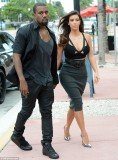 Kim Kardashian and Kanye West were photographed at the exclusive Prime 112 restaurant in Miami