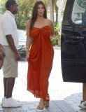 Kim Kardashian decided to forgo a bra for the outing