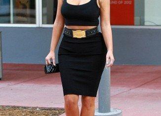 Kim Kardashian returned to Florida to continue filming spin-off series Kourtney & Kim Take Miami