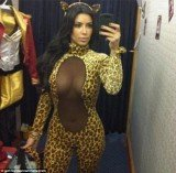 Kim Kardashian was out shopping for Halloween outfits in Miami