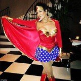 Kris Jenner is seen in a new Twitter image dressed up as Wonder Woman
