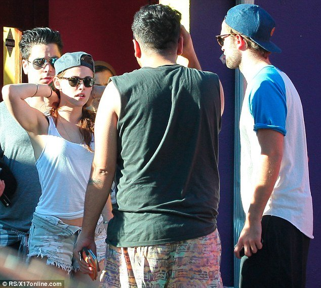 Kristen Stewart and Robert Pattinson have been pictured together for the first time since news broke of her affair with married director Rupert Sanders back in July