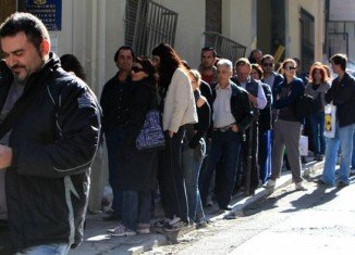 Latest official figures show that unemployment in Greece hit a record 25.1 percent in July
