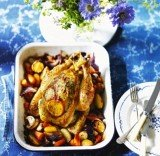 Lemon and tarragon roast chicken