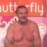 Liam Neeson was more than happy show off his body to raise cash for cancer research