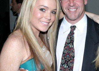 Lindsay Lohan and her father Michael