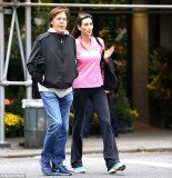 Nancy Shevell opted for some comfortable gear as she and Sir Paul McCartney took in a stroll in New York