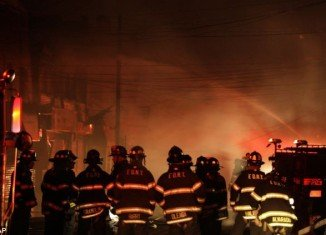 Nearly 200 heroic firefighters battled an uncontrollable blaze that tore through 50 homes in the Rockaways, Queens