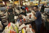New York City is on lockdown in anticipation of Hurricane Sandy and its residents were quick to respond rushing to stock up the essentials