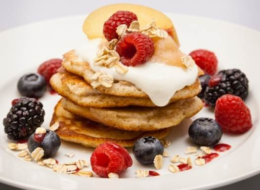 Image result for yogurt and fruits pancakes