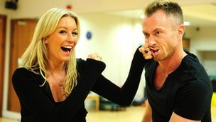 Ola Jordan accidentally kicked James Jordan in the face as they practiced a group dance for Strictly Come Dancing