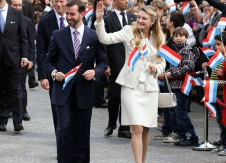 Prince Guillaume of Luxembourg married Belgian Countess Stephanie de Lannoy in a civil wedding