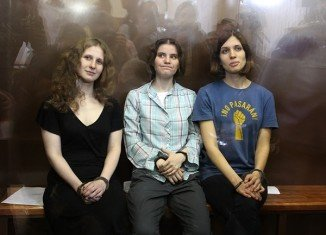 Pussy Riot members were jailed for two years for staging an anti-Kremlin protest in Moscow's main cathedral