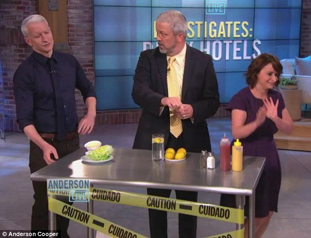 Restaurants' horrifying hidden germs revealed by Anderson Cooper