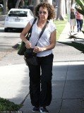Rhea Perlman was seen wandering around Los Angeles without her wedding ring