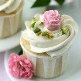 Rose water pistachio cupcake