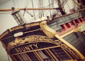 Seventeen people aboard HMS Bounty have abandoned ship off the coast of North Carolina amid Hurricane Sandy
