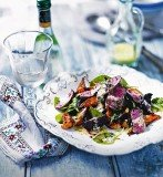 Steak with roast vegetables