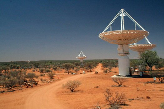 The ASKAP in Western Australia's outback has 36 antennas with a diametre of 12 m each
