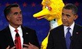 The creators of Big Bird have called on the Obama campaign to withdraw a new advertisement that uses the character in an attack on rival Mitt Romney