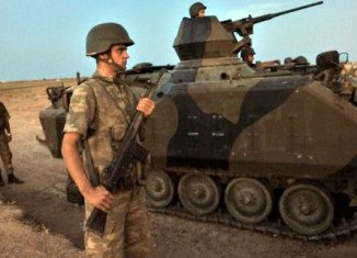 Turkey has fired into Syria for a fourth day after a Syrian mortar landed near Akcakale