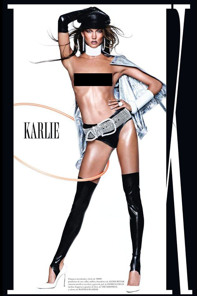 A heavy-handed creative appears to have added an extra armpit to Karlie Kloss in her latest shoot for Vogue magazine
