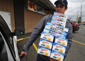 As the future of Twinkies hangs in the balance, fans of the fatty treat are desperately stockpiling their favorite snack