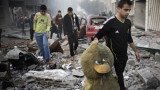 At least 26 people have died in the Gaza Strip as Israeli forces kept up air strikes