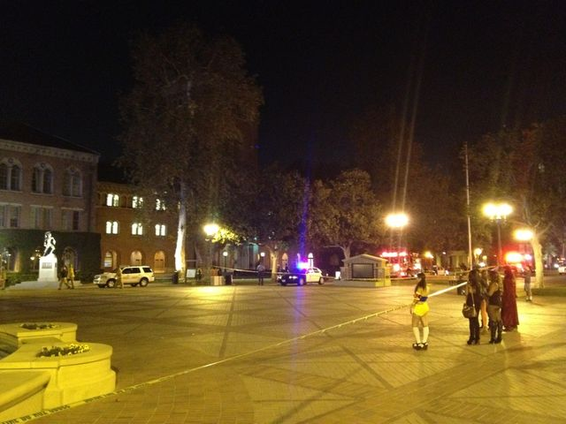 At least 4 people have been wounded in a shooting incident at a Halloween party at the University of Southern California