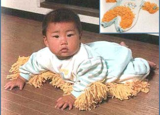Baby Mop is the brainchild of BetterThanPants website and was inspired by a spoof Japanese advert of a similar invention