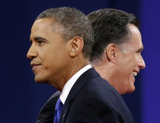 Barack Obama and Mitt Romney target key swing states as latest polls suggest they are almost tied