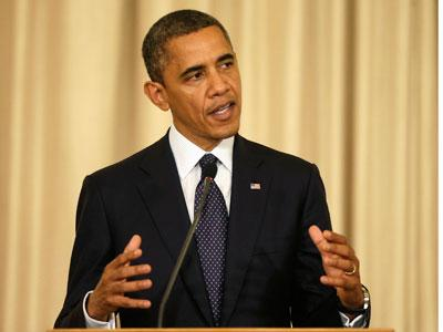Barack Obama defended Israel's airstrikes on the Gaza Strip