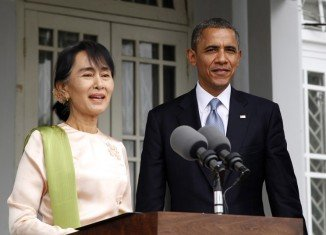 Barack Obama met Burma pro-democracy leader Aung San Suu Kyi at the lakeside home where she spent years under house arrest