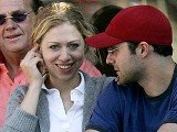 Chelsea Clinton and her husband Marc Mezvinsky have been left without power and hot water in the aftermath of Hurricane Sandy